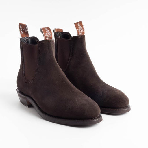 RM Williams - Adelaide Rubber Sole - Suede Chocolate Women's Shoes RM Williams - Women's Collection