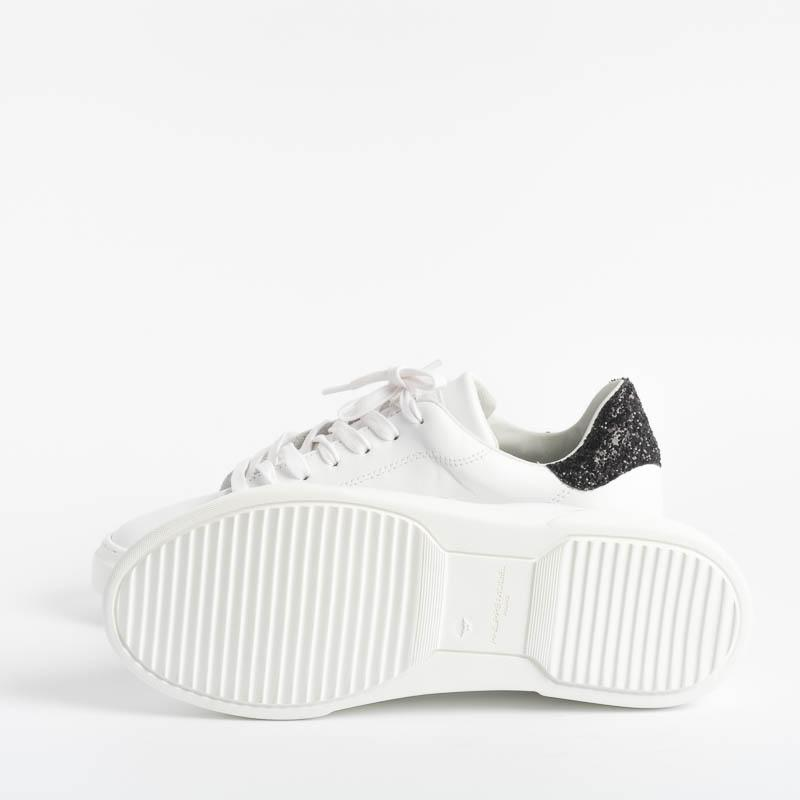 PHILIPPE MODEL - Temple - BGLD VG05 - White Glitter Noir Philippe Model Paris Women's Shoes