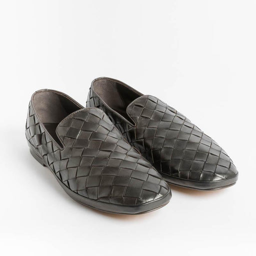 HENDERSON - Guinea moccasin - Dark brown weave Shoes Man HENDERSON