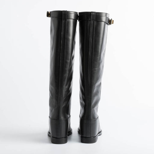DEL CARLO - Mocassin - 11005 Hack - Polished Black Women's Shoes DEL CARLO