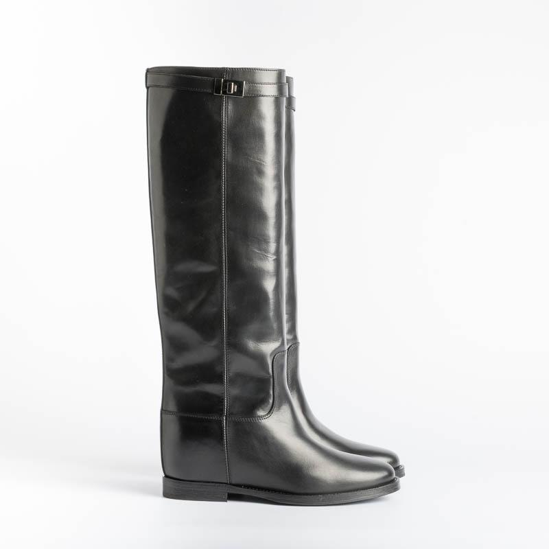VIA ROMA 15 - Boot 3428 - Saint Barth Black Women's Shoes Via Roma 15