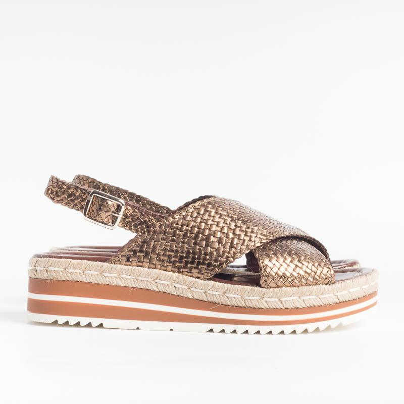 PONS QUINTANA - MILAN 8330 Sandals - Metal Cobre Women's Shoes PONS QUINTANA