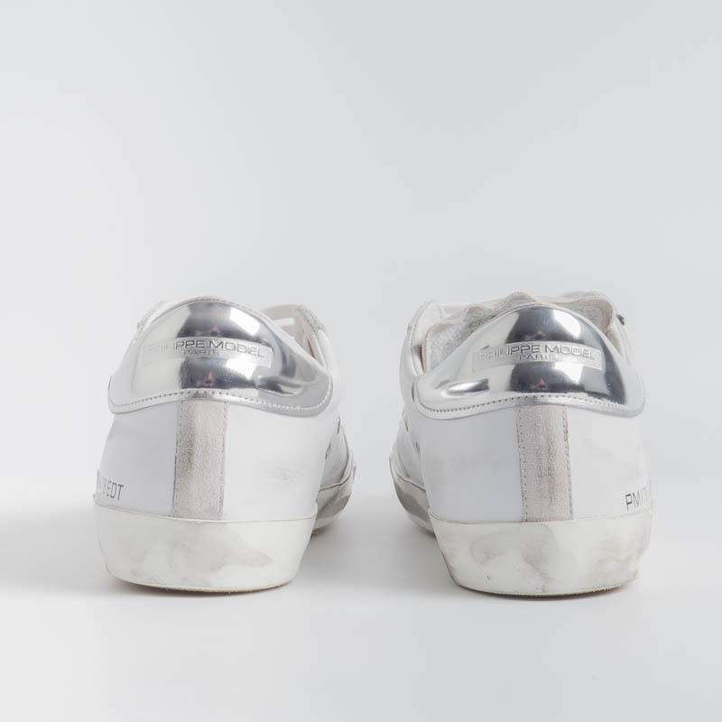 PHILIPPE MODEL - PRLU VB02 - ParisX - Blanc Argent Men's Shoes Philippe Model Paris