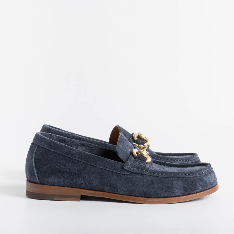 HENDERSON - Moccasin - Mary - Blue Calf Women's Shoes HENDERSON - Women's Collection