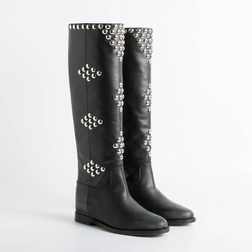 VIA ROMA 15 - Boots 3500 - Black Malibù Studs Women's Shoes Via Roma 15