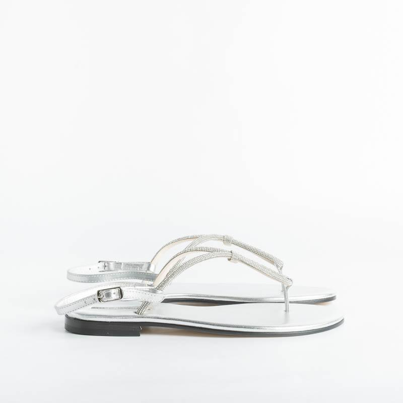 PAOLA FIORENZA - Microcrystals Sandal / 04 - Silver Shoes Woman PAOLA FIORENZA