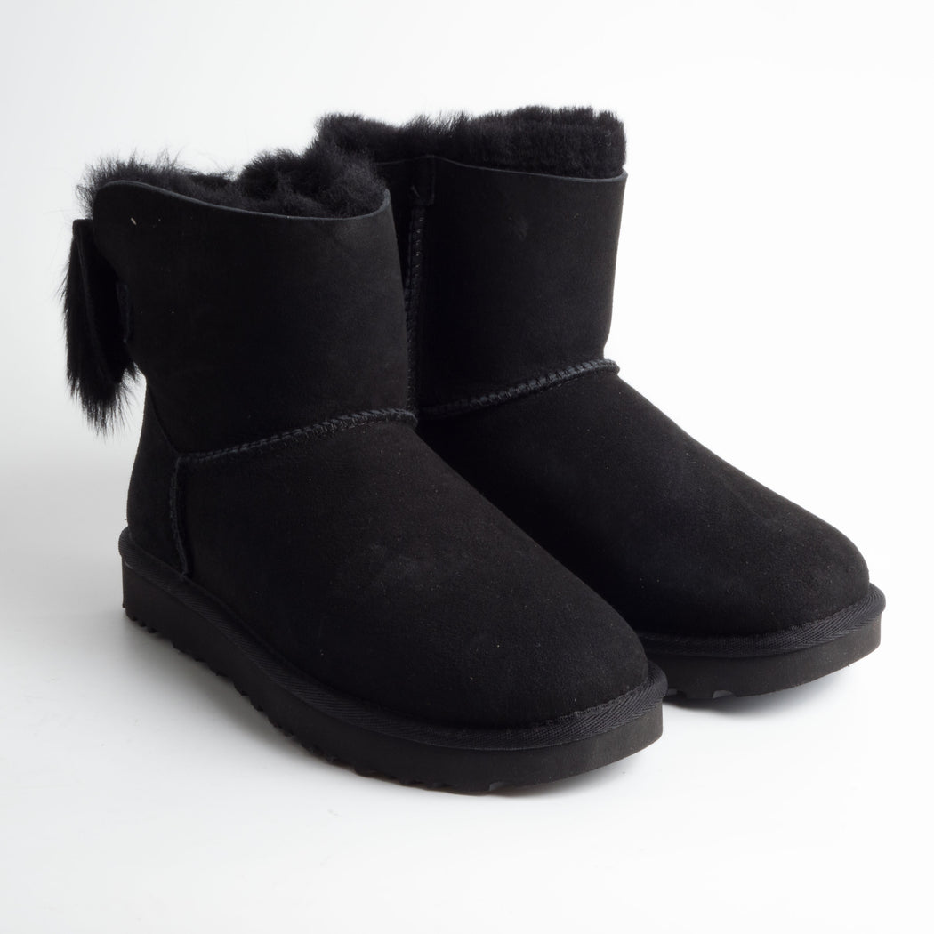 UGG - FW 2018/19 - Fluff Bow Mini - 1094967w - black Shoes Woman Ugg