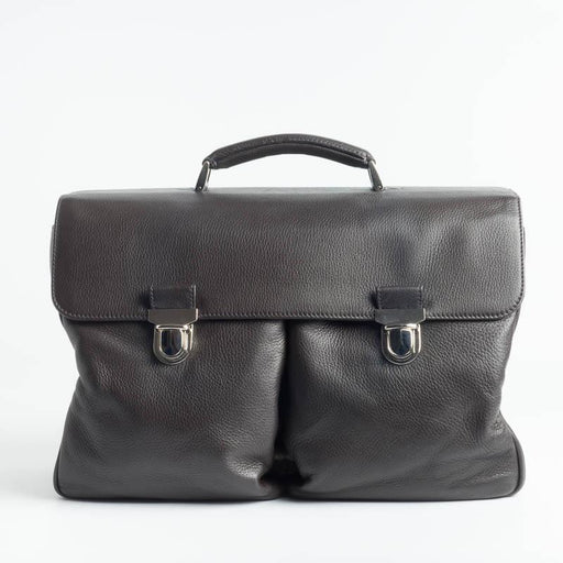 DANIEL & BOB - S075 Briefcase - Dark Brown Bags Daniel & Bob