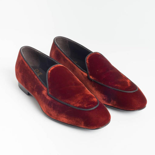 STURLINI - Loafer - E1294 / E3623 - Orange Velvet Shoes for Woman STURLINI