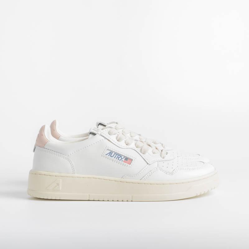AUTRY LL16 - LOW WOM ALL LEAT - White / Pink Women's Shoes AUTRY - Women's collection