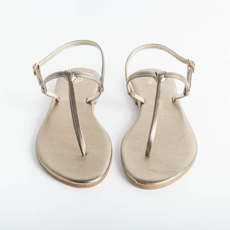 PAOLA FIORENZA - Thong sandal with knot - Bronze Shoes Woman PAOLA FIORENZA