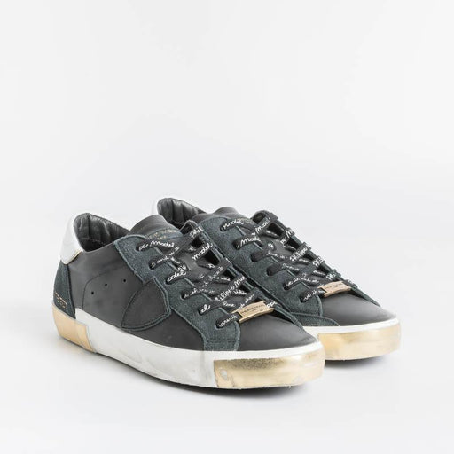 PHILIPPE MODEL - PRLD M006 - ParisX Sneakers - Black Gold Shoes Woman Philippe Model Paris