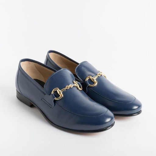 SEBOY'S - Moccasin 95 - Blue Nappa Women's Shoes SEBOY'S