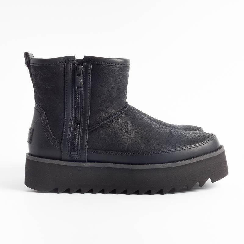 UGG - Original Classic REBEL BIKER MINI - 1105314 - BLACK Women's Shoes Ugg