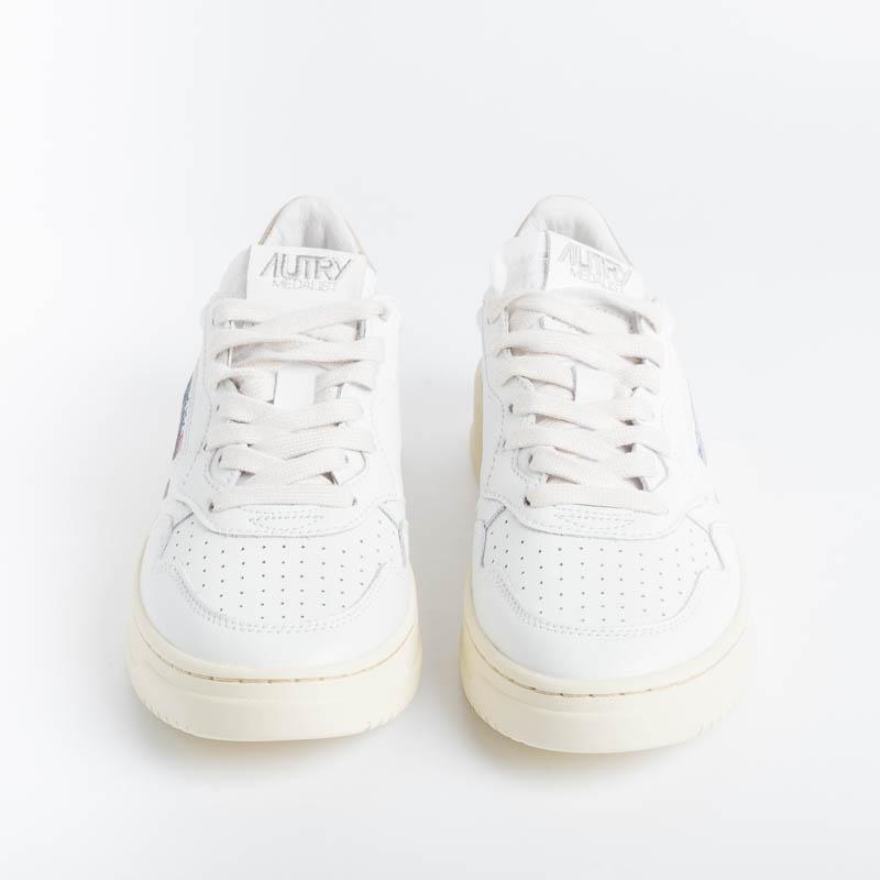 AUTRY LL06 - LOW WOM LEAT - White / Gold Women's Shoes AUTRY - Women's collection