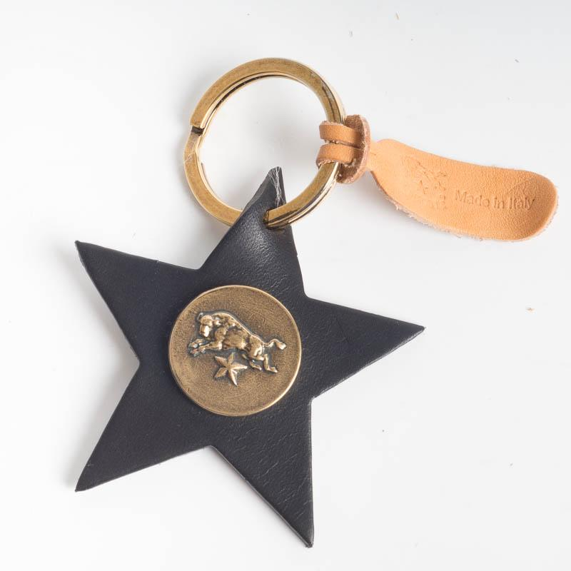 IL BISONTE - C1162 - Stella key ring - various colors Accessories Woman Il Bisonte black