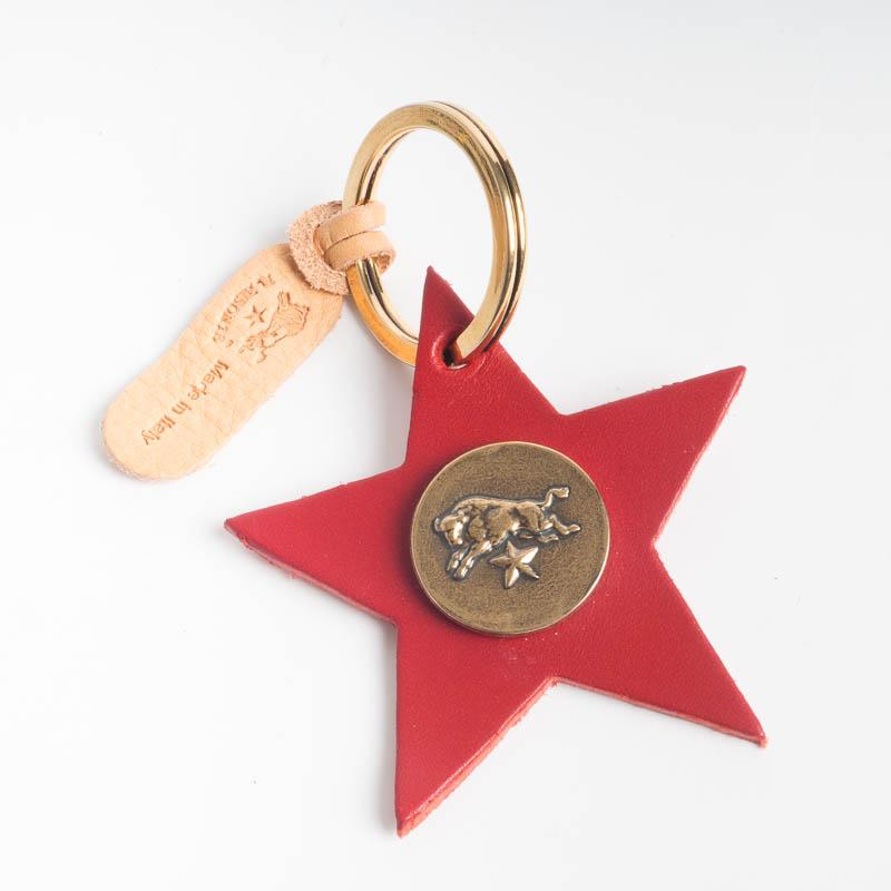 IL BISONTE - C1162 - Stella key ring - various colors Accessories Woman Il Bisonte red