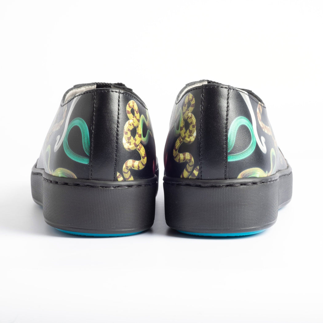SANTONI - 60285 - TOILETPAPER for Santoni - Black Santoni Women's Shoes - Women's Collection