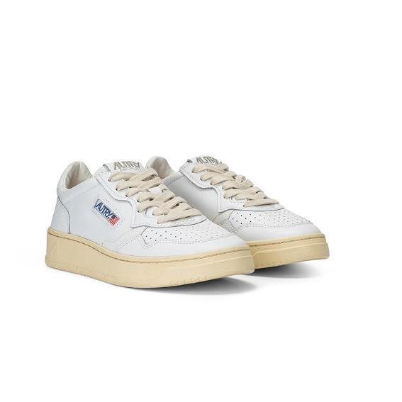 AUTRY LL12 - LOW WOMAN ALL LEAT - White / Blue Men's Shoes AUTRY - Women's collection
