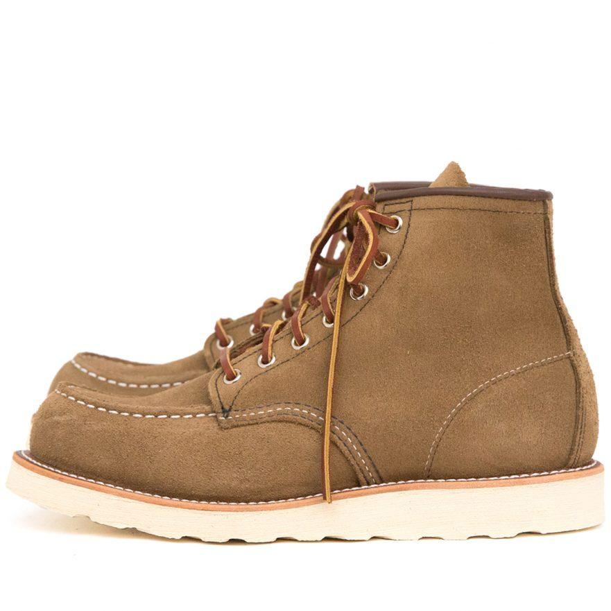 RED WING - Classic Moc Toe 8881 - Oliva Scarpe Uomo Red Wing Shoes