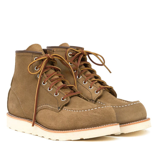 RED WING - Classic Moc Toe 8881 - Olive Men's Shoes Red Wing Shoes