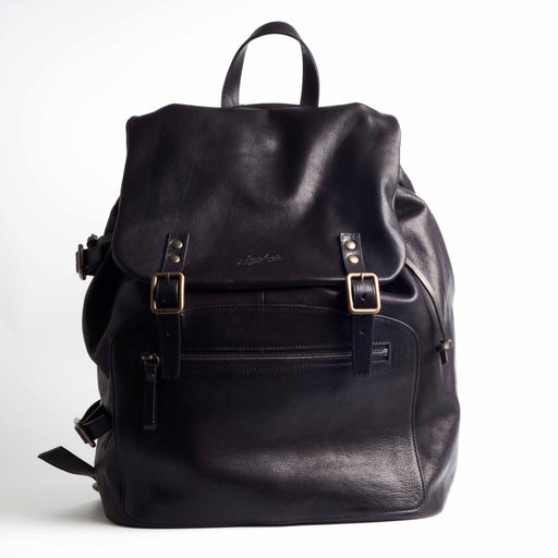 SACHET - Men's leather backpack - Black