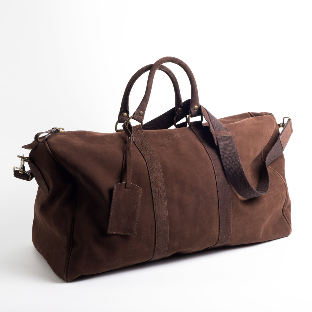 SACHET - Travel Bag - Nubuck - Various Colors Bags SACHET DARK BROWN