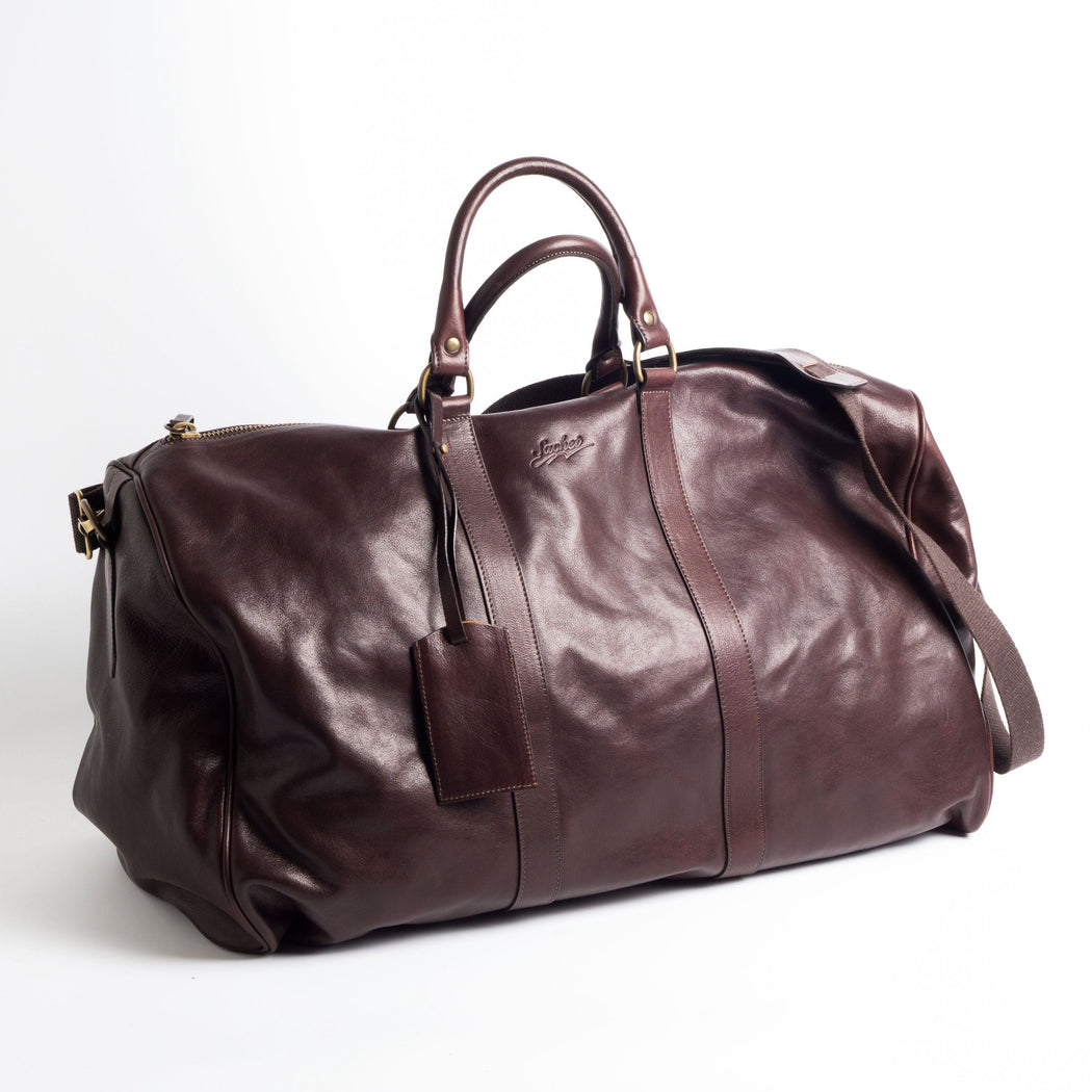 SACHET - Travel Bag - Leather - Various Colors Bags SACHET DARK BROWN SMOOTH LEATHER