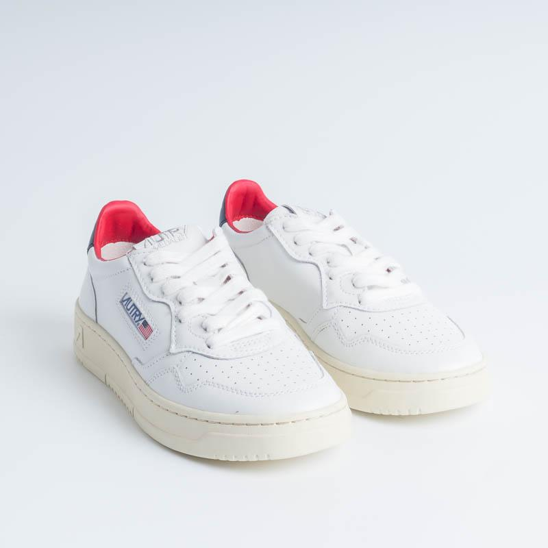 AUTRY LN18 - LOW WOM ALL LEAT - White / Blue / Red Women's Shoes AUTRY - Women's collection