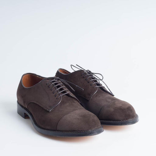 ALDEN - M0501Y - Derby Modified (Ergonomic) - Dark Brown Suede - Call to buy Alden Men's Shoes