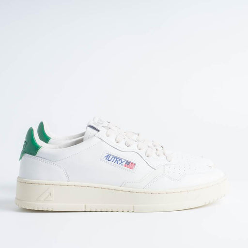 AUTRY LL20 - LOW MAN ALL LEAT - White / Green Men's Shoes AUTRY - Men's collection