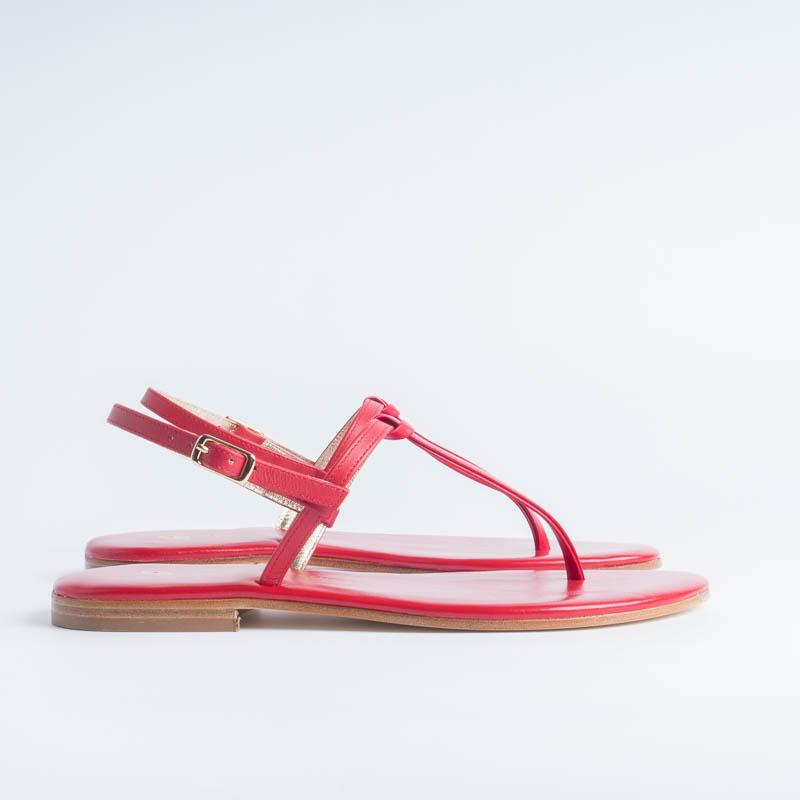 PAOLA FIORENZA - Knot sandal - Red Women's Shoes PAOLA FIORENZA