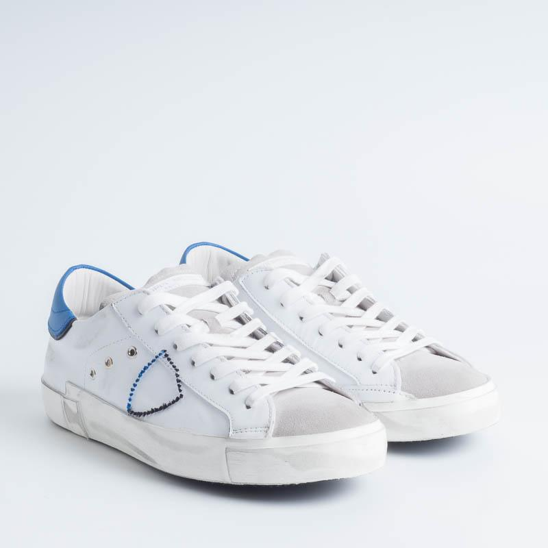 PHILIPPE MODEL - PRLU VX16 - ParisX - White Bluette Philippe Model Paris men's shoes