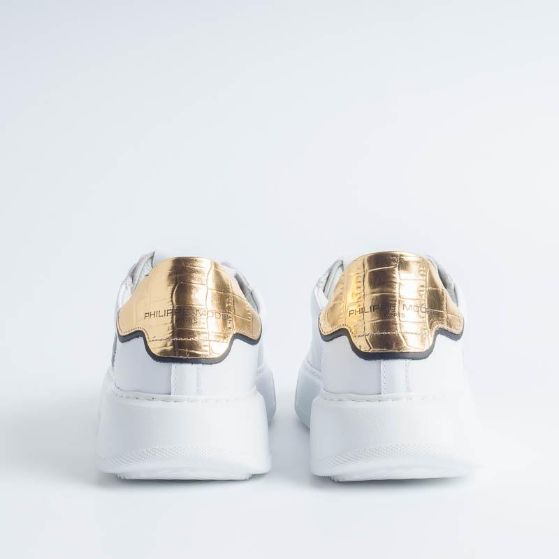 PHILIPPE MODEL - BTLD VC01 - Temple - White Gold Philippe Model Paris Women's Shoes
