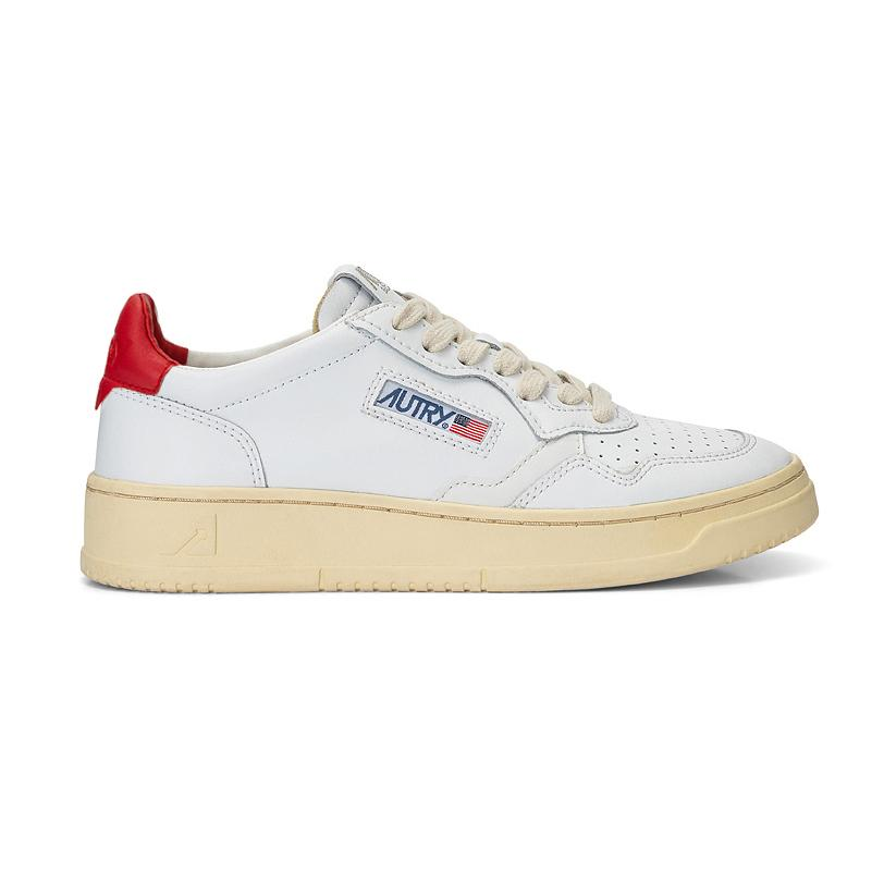 AUTRY LL21 - LOW MAN ALL LEAT - White / Red Men's Shoes AUTRY - Men's collection