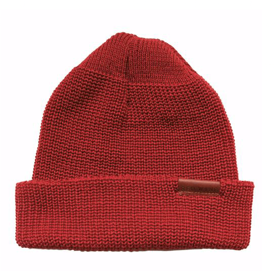 RED WING SHOES - 97493 merino wool Cap - Red Men's Accessories RED WING - Men's Collection RED