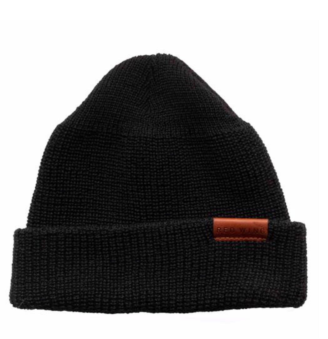 RED WING SHOES - 97492 merino wool Cap - Black Men's Accessories RED WING - Men's Collection
