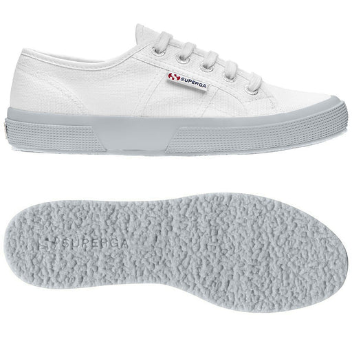 SUPERGA - PE 2019 - Sneaker canvas - 2750 COTU CLASSIC - White-Grey Ash Scarpe Donna SUPERGA