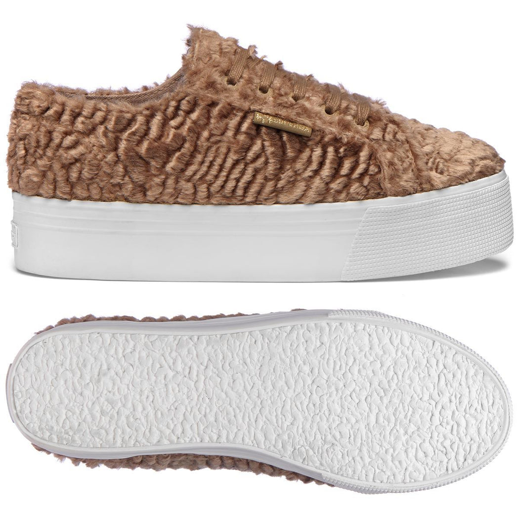 SUPERGA - Astrakhan sneaker - 2790 S00GVH0 - Taupe Women's Shoes SUPERGA