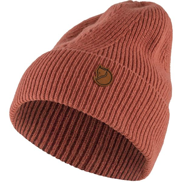FJALLRAVEN - Directional Rib Beanie - Various Colors Men's Accessories Fjallraven Terracotta Pink