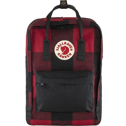 "FJÄLLRÄVEN Kånken Re-Wool 15 ""320 550 Red Black Backpack Fjallraven"