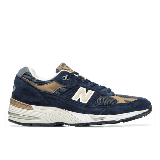 NEW BALANCE - Sneakers 991DBN - Blue Leather Men's Shoes NEW BALANCE - Men's Collection
