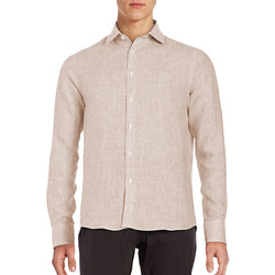 Black Brown Casual Shirt Off White