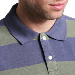 GAP Rugby Green Stripe Pique Basic  Polo Shirt (Label Removed)