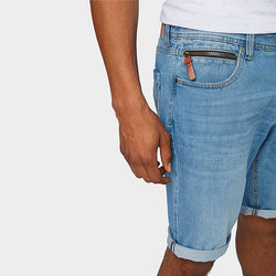 Tom Tailor Josh Light Blue Zip Pocket Denim Shorts