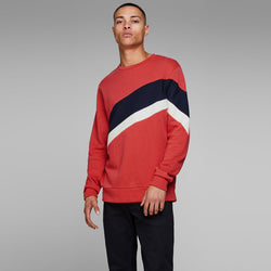 Jack & Jones Panel Stripe Colorblock Sweatshirt 614