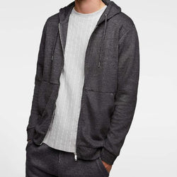 Zara Anthracite Grey Zip Up Hoodie 452