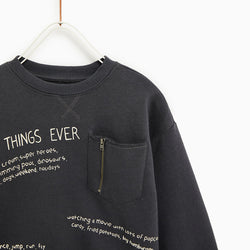 Zara Charcoal Best Things Ever Boys Sweatshirt 474