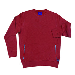 Spring Field Red Sweat Shirt With Zipper Pockets 453