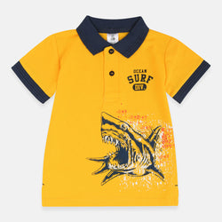ilus Roivas Ocean Surf Shark Yellow Polo 2031